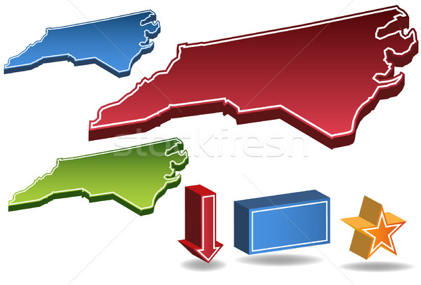 North Carolina 3D Stock photo © cteconsulting