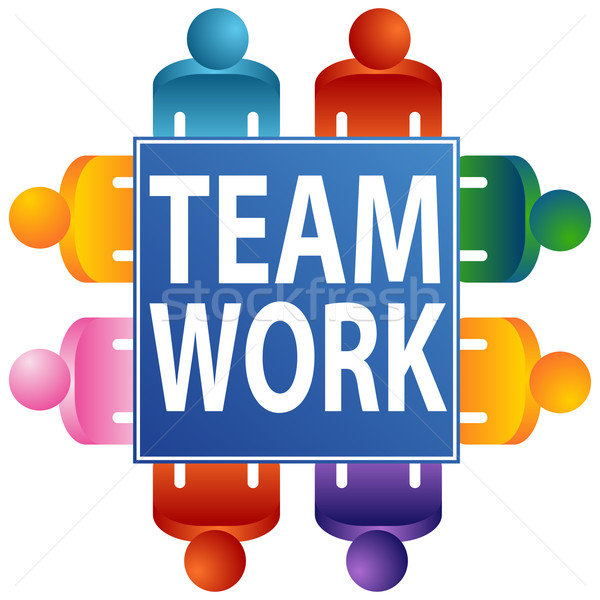 Teamwork Table Stock photo © cteconsulting