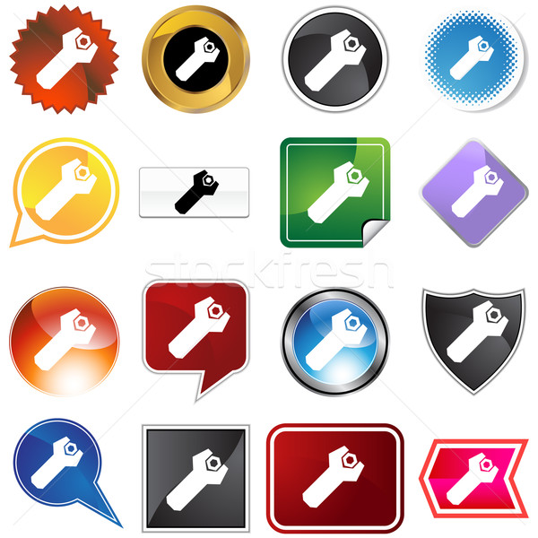 Wrench Bolt Icon Set Stock photo © cteconsulting