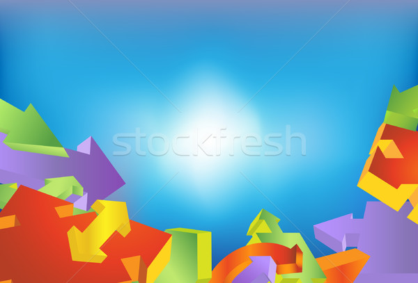 Directional Arrow Background Stock photo © cteconsulting
