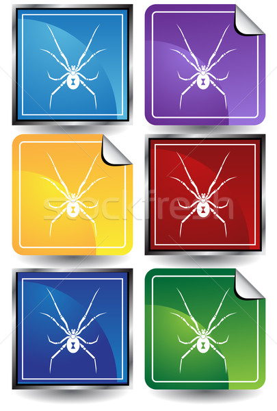 Araignée image design noir blanche bug Photo stock © cteconsulting