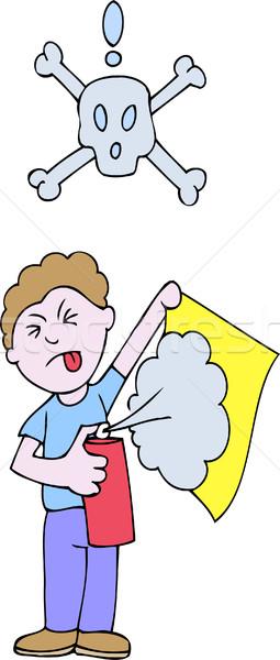 Veneno spray pessoa perigoso abstrato projeto Foto stock © cteconsulting