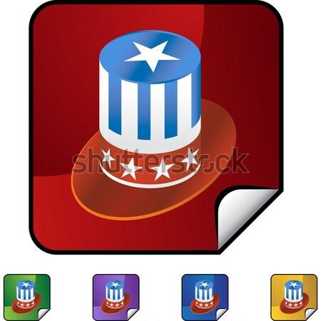 Foto stock: Escudo · cinta · sombrero · 3D · oro · patriótico