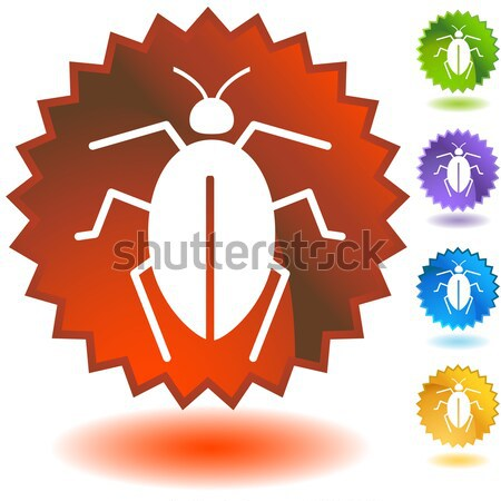 Error establecer iconos arte azul Foto stock © cteconsulting