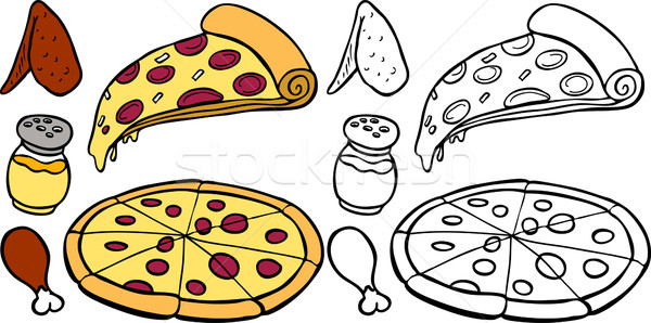 Pizza and Wings Stock photo © cteconsulting