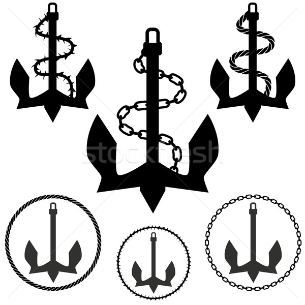Set of Anchors Stock photo © cteconsulting