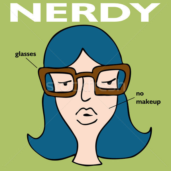 Nerdy Girl With Glasses Stock photo © cteconsulting