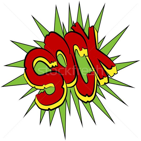 Calcetín cómico sonido efecto texto imagen Foto stock © cteconsulting