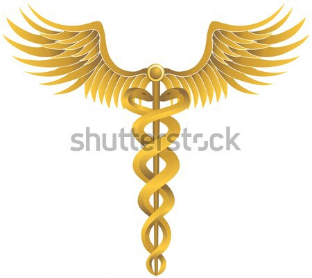 Caduceus Medical Symbol - Gold with Ribbon Stock photo © cteconsulting