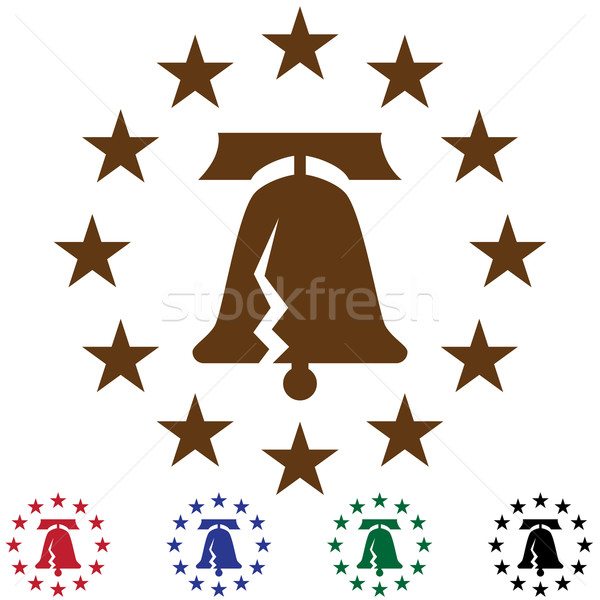 Liberty Bell with Stars Stock photo © cteconsulting