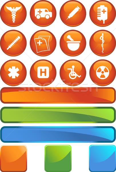 Medical Icon Set - Seal Stock photo © cteconsulting