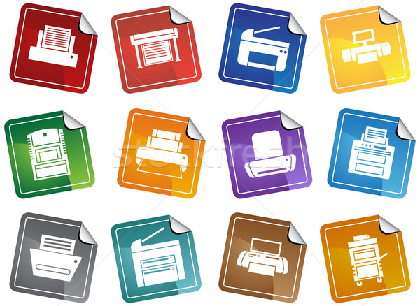 Printer Icons Stock photo © cteconsulting