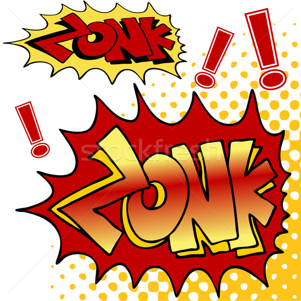 Zonk Comic Book Text Stock photo © cteconsulting