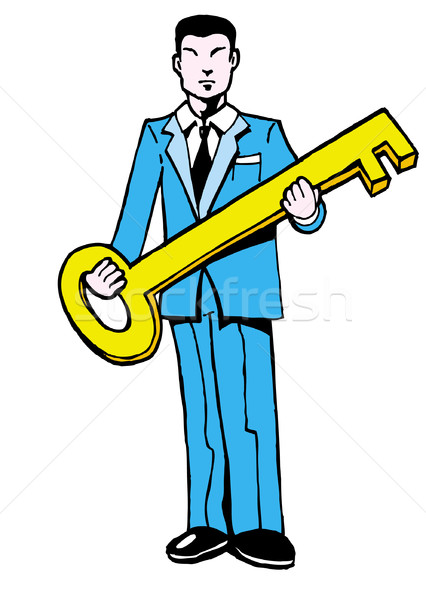 Man with Key Stock photo © cteconsulting