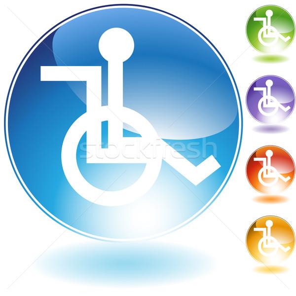 Wheelchair Icon Stock photo © cteconsulting