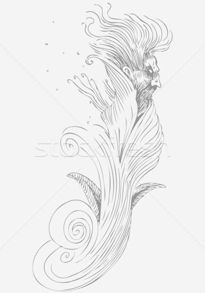 Gonosz fantom kép karakter fekete sötét Stock fotó © cteconsulting