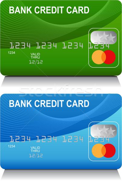 Creditcards afbeelding ingesteld algemeen ontwerp Blauw Stockfoto © cteconsulting