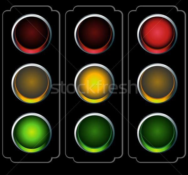 Traffic Light Night Stock photo © cteconsulting
