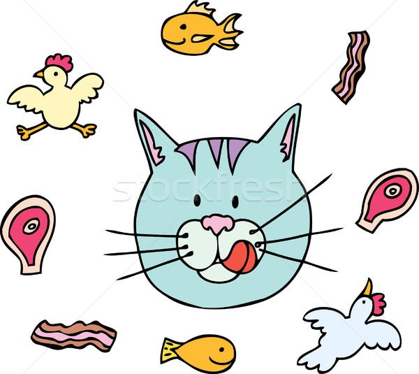 Cat Food Stock photo © cteconsulting