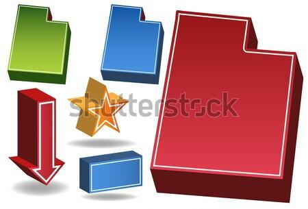 New Mexico 3D ingesteld iconen kaart Stockfoto © cteconsulting