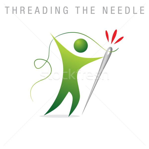 Threading The Needle Stock photo © cteconsulting