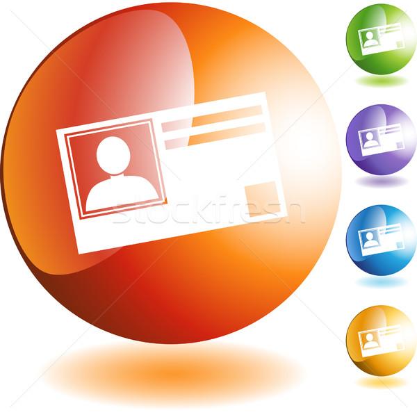 Identificação cartão isolado projeto azul Foto stock © cteconsulting