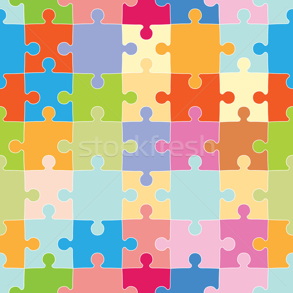 Puzzle Pieces Pattern Stock photo © cteconsulting