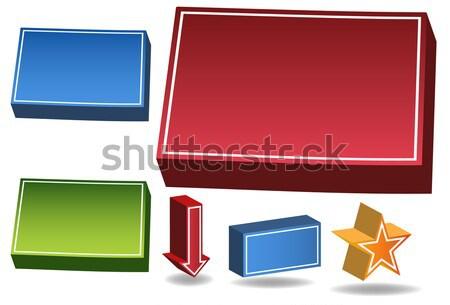 Kansas 3D szett képek ikonok terv Stock fotó © cteconsulting