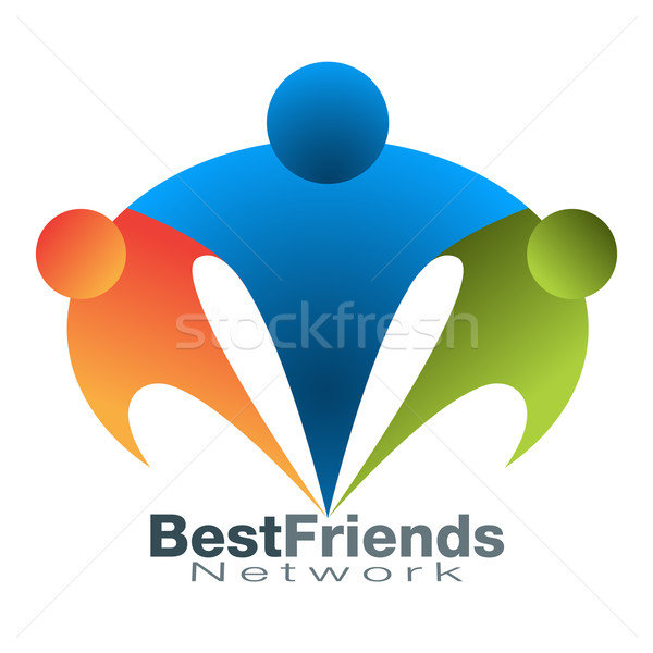 Best Friend Network Icon Stock photo © cteconsulting