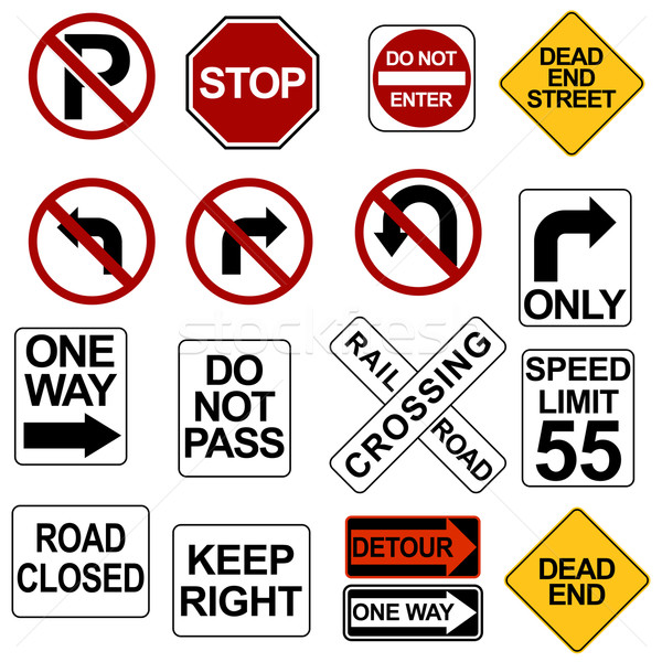 Road Sign Set Stock photo © cteconsulting