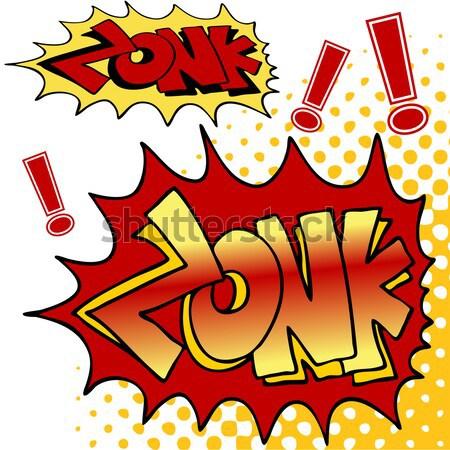 Hałasu obraz komiks tekst tle energii Zdjęcia stock © cteconsulting