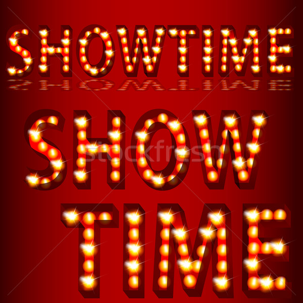 Theatrical Lights ShowtimeText Stock photo © cteconsulting