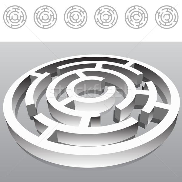 Labirent görüntü 3D grafik grafik perspektif Stok fotoğraf © cteconsulting