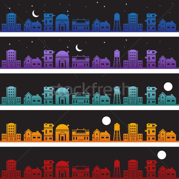 Building Banner Night Stock photo © cteconsulting