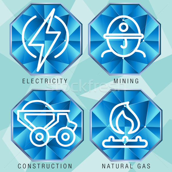 Energy Sector Icon Set Stock photo © cteconsulting