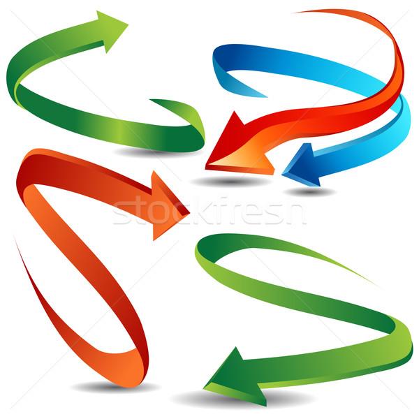 Snel pijl lint ingesteld afbeelding business Stockfoto © cteconsulting