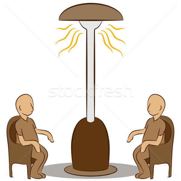 People Sitting Under a Lamp Heater Stock photo © cteconsulting