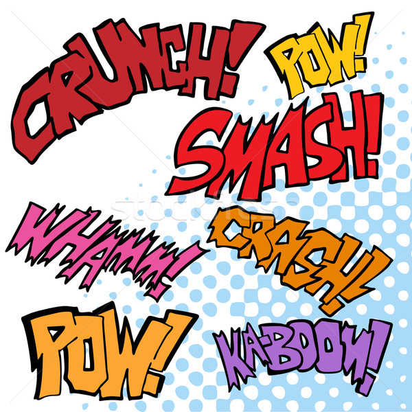 Comic Sound Effects Stock photo © cteconsulting