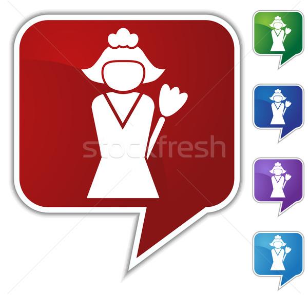 Czyszczenia usługi obraz dziewczyna kobiet pracy Zdjęcia stock © cteconsulting