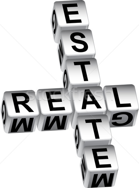 3D Real Estate Dice Message Stock photo © cteconsulting