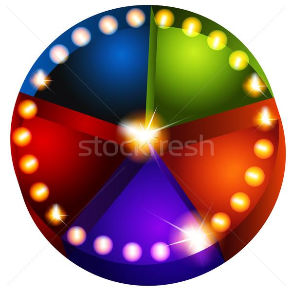 Színpadi fények kördiagram kép üzlet kék Stock fotó © cteconsulting