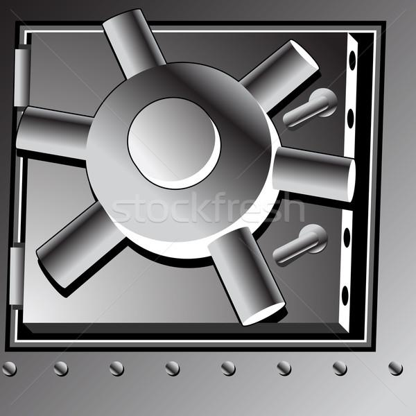 Bank agykoponya ajtó kép biztonság zár Stock fotó © cteconsulting