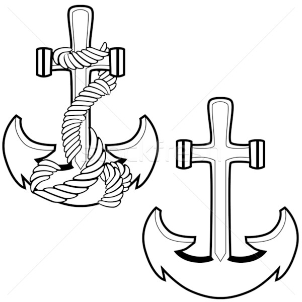 Roped Anchor Stock photo © cteconsulting