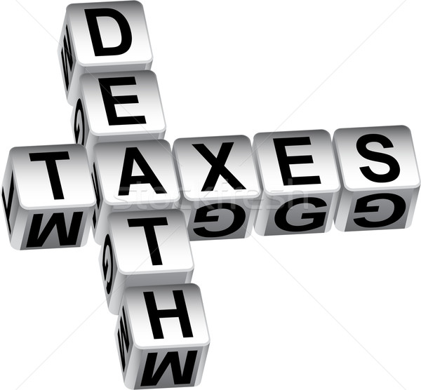 3D Death and Taxes Dice Message Stock photo © cteconsulting