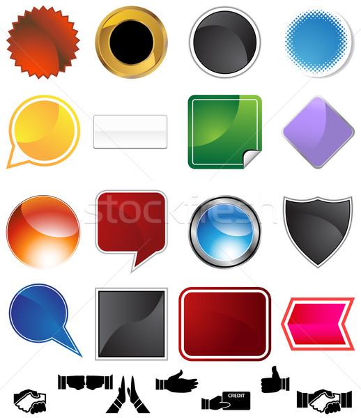 Varietà set isolato bianco mani Foto d'archivio © cteconsulting
