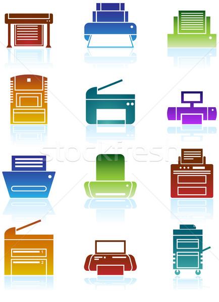 Printer Icons Stock photo © cteconsulting