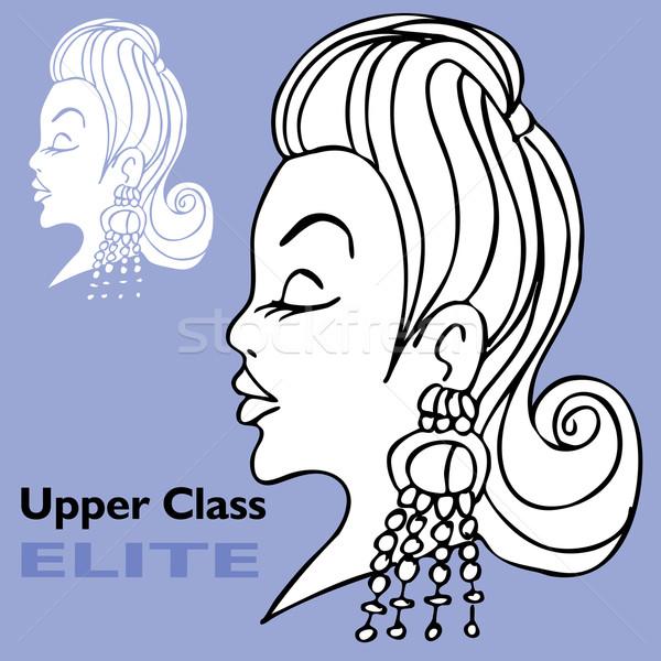 Elite Girl with Big Earrings Stock photo © cteconsulting