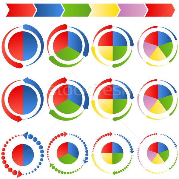 Process Arrow Pie Charts Stock photo © cteconsulting