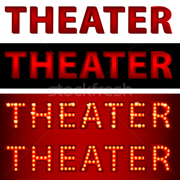 Theatrical Lights Theater Text Stock photo © cteconsulting