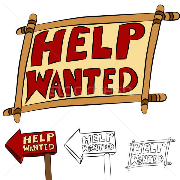 Help Wanted Sign Set Stock photo © cteconsulting